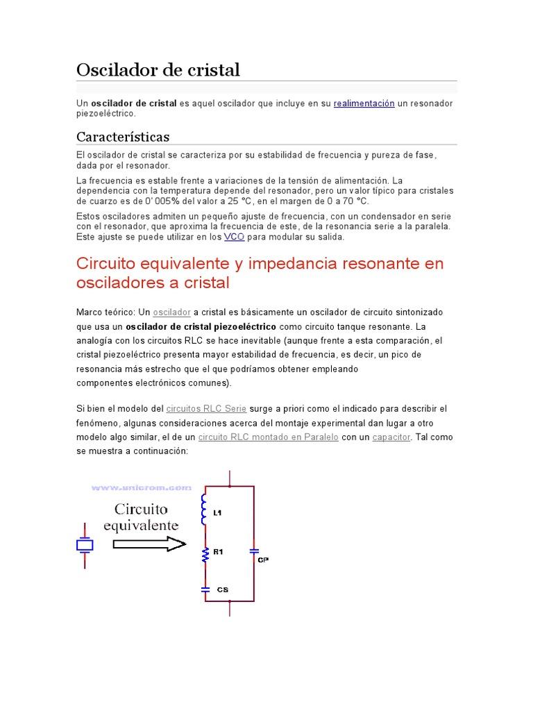Circuito Oscilador : Oscilador de cristal docx