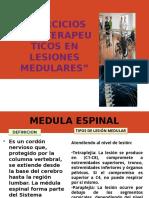 Informe - Ejercicios Fisioterapeuticos en Lesiones Medulares