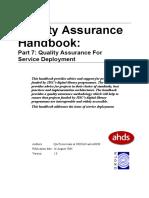 Qa Handbook Service Deployment