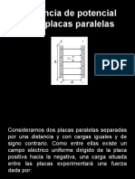 Potencial Entre Placas, Energia Potencial y Capacitancia.