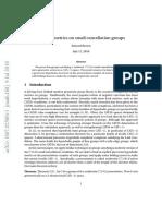 CAT -1 metrics on small cancellation groups