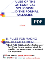 6 Rules of Categorical Syllogism