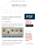 COMMON ERROR QUESTIONS FOR IBPS SET 7 - Study4Success.pdf