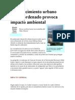 Crecimiento urbano desordenado provoca impacto ambiental-Semanario universidad-10Dic-2004.doc