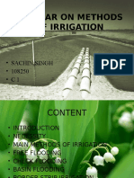 Seminar on Methods of Irrigation