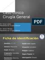 Caso clinico fistula enterovesical