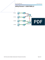 9.1.4.6 Packet Tracer - Subnetting Scenario 1JP