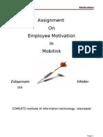 Employee Motivation on Mobilink