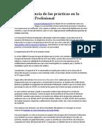 La Importancia de Las Prácticas en La Formación Profesional