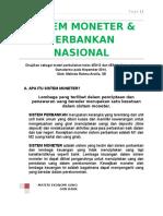 Sistem Moneter Dan Perbankan Nasional