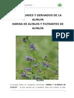 Vamos a Elaborar Harina de Alfalfa y Filtrantes de Alfalfa