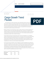IATA - Cargo Growth Trend Pauses