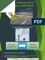 Presentacion Costos y Presupuestos Para Carreteras
