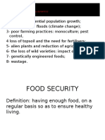 human impact 2 of 2 food security biodiversity and waste