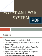 Egyptian Legal System