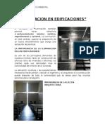Iluminacion en Edificaciones Monografia