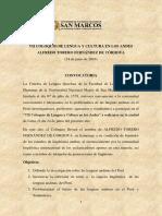 LENGUA Y CULTURA EN LOS ANDES(COLOQUIO)