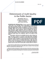 Determinants of Audit Quality in the Public Sector on JSTOR