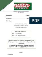 Manual Del Sistema de Gestión Ambiental PIZZERIA