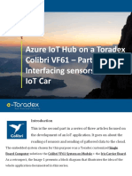 Azure IoT Hub on a Toradex Colibri VF61 – Part 2 - Interfacing sensors and the IoT Car