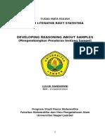 Studi Literatur Riset Statistika_12 Developing Reasoning About Samples_151820101004_Luluk Handayani