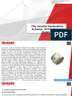 The Income Declaration Scheme 2016 Certain Aspects