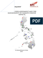 Business Risk Assessment and the Management of Climate Change Impacts - 12 Cities