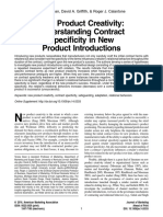 New Product Creativity- Understanding Contract Specificity in New Product Int