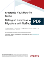 Enterprise Vault HowTo Migrating Archived Enterprise Vault Content to Veritas NetBackup (January 2016)