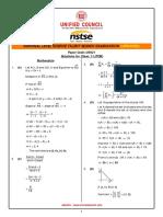 NSTSC - Class-11 PCM Solution