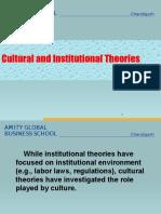 Cultural Theroris