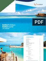 Όμιλος TUI - Έκθεση Προόδου Σχετικά Με Τη Στρατηγική Αειφόρου Ανάπτυξης
