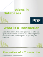 Transactions in Databases