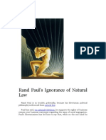 Rand Paul's Ignorance of Natural Law