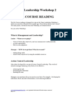 Leadership Pre Course Reading and Quiz