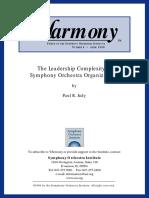 Orchestral Organization