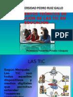 FUNDAMENTOS TEÓRICOS DE INTEGRACIÓN DE LAS TIC TRABAJO  ARREGLADA