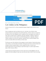 Law Studies in the Philippines