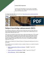 Subject+Knowledge+Enhancement+Courses