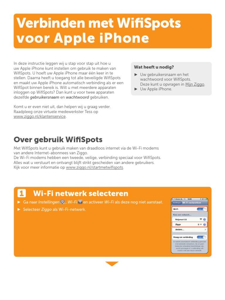 Ziggo Wifispots Apple Iphone V20tcm14 34974pdf