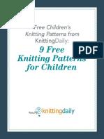 knitting pattern for kidswear
