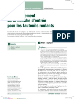 Franchissement de La Porte d'Entrée Pour Les Fauteuils Roulants (Source Moniteur)