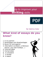 Some Help to Improve Your Writing Skills - B1 ISE I