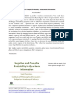 Vasil Penchev. Negative and Complex Probability in Quantum Information