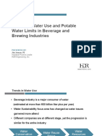 5843 Trends in Water Use and Potable Water Limits in Beverage and Brewing Industries