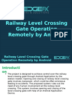 Railway Level Crossing Gate Operation Remotely by Android