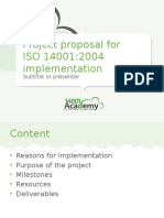 Presentation Project Proposal for ISO14001 Implementation 14001Academy En