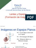 Espejos y lentes - FÍSICA IV