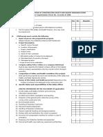 CSHP Checklist 2011