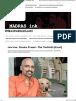 Interview_ Sreekar Prasad – the FilmSmith [Uncut] _ MADRAS INK
